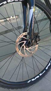 Trekkingbike Vorderrad Detail